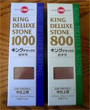Set of 2  800 GRT/1000 GRT King Deluxe Whetstone Sharpening Waterstone Sharpener