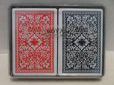 Royal 100% Plastic Double Deck Playing Cards Jumbo Index With Case Pristine!