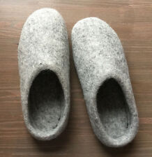 Handmade Felted Wool Men's Shoes, Size 9.5 - 10 Comfort winter slippers, Cl
