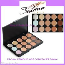 NEW Sedona Lace 15-Color CAMOUFLAGE CONCEALER Palette FREE SHIPPING Face Makeup