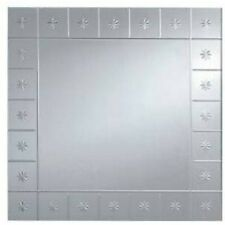 PHARMORE 60 X 45CM ENGRAVED STAR RECTANGLE FURNITURE WALL MOUNT FRAMELESS MIRROR
