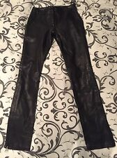 Real Leather Skinny Trousers Uk 8 Topshop Rrp £165