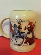 Stetson Ceramic Cowboys Collectors Beer Stein Mug Limited Edition Collectible