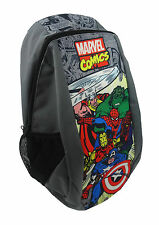 Marvel Comics Grey Urban Children's Backpack with Mesh Side Pockets