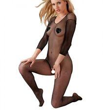 Tutina intera a RETE fine Bodystocking black lingerie tuta Catsuit sexy shop