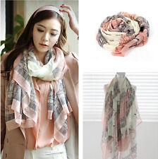 Stylish Eiffe Towel Womens Long Scarf Wrap Ladies Shawl Girls Large Silk Scarves