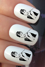 NAIL ART SET #367 x24 AUDREY HEPBURN SMOKE WATER TRANSFER TATTOO DECALS STICKERS