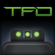 Truglo Brite-Site Tritium/Fiber Optic Sight Fits 1911 Government Green
