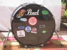 "GO DOUBLE BASS!!! 22"" PEARL FORUM OCEAN BLUE BASS DRUM for DRUM SET LOT #378"