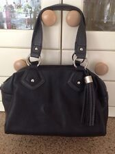 GREAT MARKS AND SPENCER SMALL BLACK GRAB BAG USED ONCE GOOD CONDITION