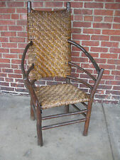 Vintage Old Hickory Large High-back Arm Chair Martinsville IN Side Chair