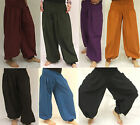 HAREM TROUSERS Genie HIPPY BOHO ALADIN ALIBABA Baggy Pants YOGA Plain Cotton