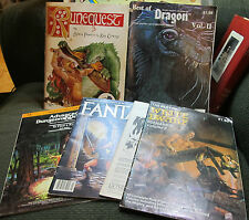 Dungeons & Dragons ad&d tsr 6 book lot modules magazines runequest fantasy rpg!!