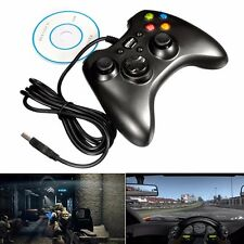 Negro USB GamePad Wired Controller Joypad para juego PC Win 7 98/2000/XP/VISTA