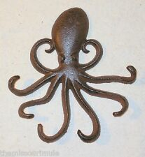 New~CAST IRON Octopus Wall Hanging Decor Steampunk Nautical Jules Verne