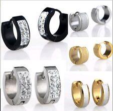 LOT50pcs Stainless Steel Hoop Earrings Stud Plug Men's Ear Jewelry Mix Styles