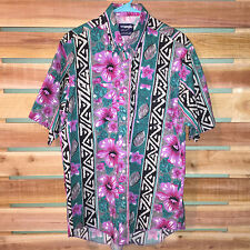 MINT EUC MENS WRANGLER FLORAL WESTERN TRIBAL AZTEC NATIVE S/S SHIRT 16.5 LARGE