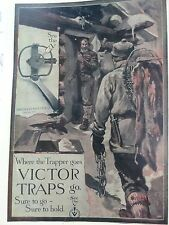 Victor Traps,Trapping,Where Trappers Go.,Edwards Artist Oneida,N.Y.,Ad. Poster