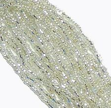 Silver Lined Clear AB Czech 11/0 Glass Seed Beads 1 (6 String Hank) Preciosa