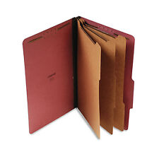Universal Pressboard Classification Folder Legal Eight-Section Red 10/Box 10295