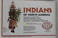 National Geographic INDIANS of NORTH AMERICA Large Fold Out Illustrated Map 1979