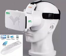 New 3D Virtual Reality VR Glasses Headset Box Helmet for iPhone + Remote Gamepad