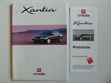 Prospekt Citroen Xantia, 12.1993, 44 Seiten + Preisliste 11.1993