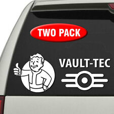 Fallout 4 - TWO PACK - Pip Boy & Vault-Tec vinyl decals for car, truck, laptop