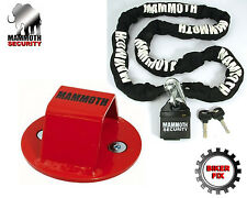 Ride on Mower, Mountain Bike Security Lock Chain And FREE Ground Anchor