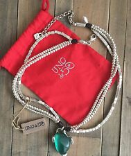"UNO DE 50 LEATHER & SILVER NECKLACE ""FATAL ATTRACTION"" $185"