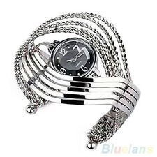 Women Silver Charm Bracelet Quartz Wrist Watch Fashion Hot