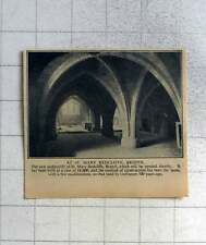 1940 New Undercroft Of St Mary Redcliffe Bristol To Open Shortly