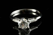 $9250 0.91 CARAT DIAMOND SI1/G WHITE GOLD LADY'S ENGAGEMENT WEDDING RING W/ CERT