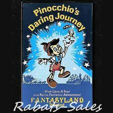 Pinocchio & Jiminy - Daring Journey Poster Disney Pin DLR LE1500 New On Card