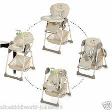 New Hauck Sit'n Relax  2in1 Zoomy Baby Feeding  Highchair+Bouncer in Bear