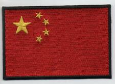 CHINA Flag LARGE 7.5cm High Quality Embroided Iron On / Sew On Patch Badge