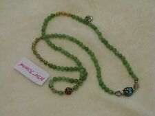 Betsey Johnson Owl Charm Convertible Necklace & Bracelet Green - NWT Beautiful!