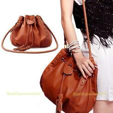 Femme Vogue Sacs à bandoulière sac à main d'épaule Seau en cuir PU Messenger