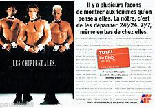 PUBLICITE ADVERTISING 016  1996  TOTAL   la carte Club  (2p) Les chippendales