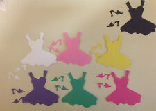 Embellishments 28 Short Card Dresses & 56 Card Matching Shoes - 7 Colours