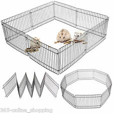 Small Folding Hamster Gerbil Rat Metal Play Pen Enclosure Cage Indoor/Outdoor