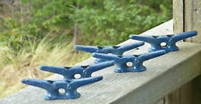"4"" CLEAT Lot of 5 Galvanized Chock Boat Ship Dock CLEATS Sailboat Hardware Blue"