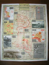 IMAGES OF WAR WWII CAMPAIGN MAP STEPPE WAR KURSK 16 DEC 1942 TO 25 JULY 1943