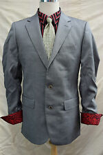 mens Stunning ZARA MAN WOOL AND SILK suit 2 piece jacket trouser 46R, W36 L32