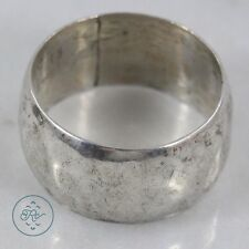 Sterling Silver - 10mm Classic Wide Band 6.5g - Ring (8.75) Mens IJ0693