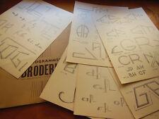lot de planches anciennes modéles monogramme travaux couture création patron