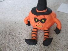 Halloween Plush Pumpkin - International Silver Co - RARE