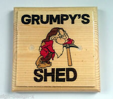 Small Grumpys Shed - Plaque / Sign / Gift - Workshop Dad Grandad Garage Tools