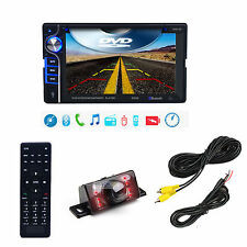 """6.2"""" Car In-dash Bluetooth Double 2 Din DVD Player IR Backup Camera W/20FT Wire"""