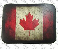 LEATHER VINTAGE STYLE CANADIAN CA FLAG MOTORCYCLE JACKET BIKER VEST CANADA PATCH